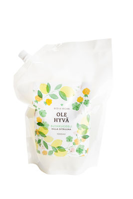 Shower Gel – Cloudberry-Lemon 1000 ml Refill bag